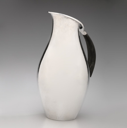 Georg Jensen Pitcher 432F with Carved Ebony Handle