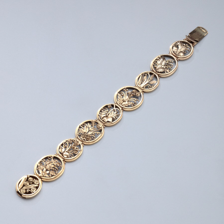 American Arts and Crafts Period Bracelet by Gilbert Oakes of the Oakes Studio
