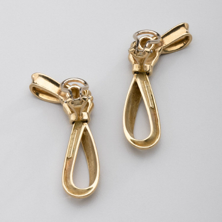 Tiffany & Company Gold Knotted Bow Earrings