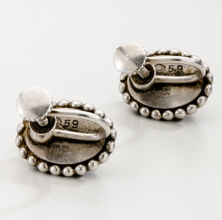 Georg Jensen Earrings No. 59 with Spectrolite