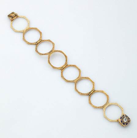 Georgian Gold Ring/Bracelet with Diamonds
