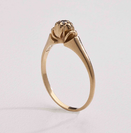 Georg Jensen Gold Ring No. 325 with Diamond