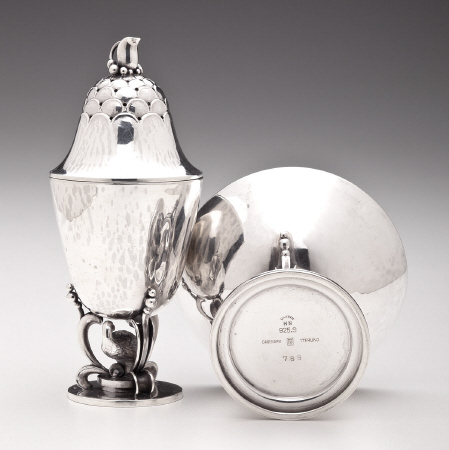 Georg Jensen Partridge Salt & Pepper Set No. 788