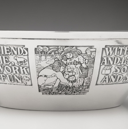 Nursey Rhyme Baby Bowl &Underplate by William Kerr