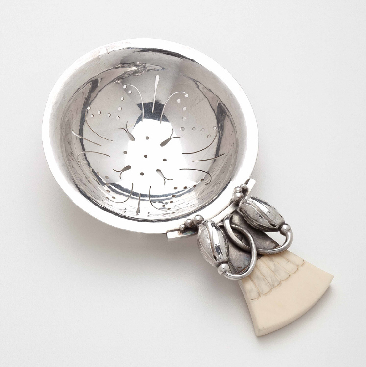 Georg Jensen Blossom Tea Strainer No. 84B