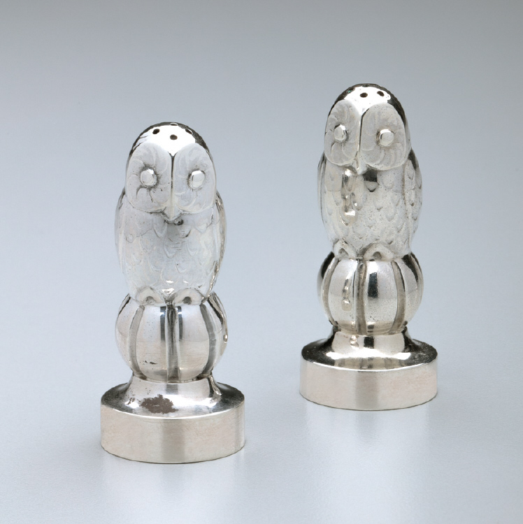 Georg Jensen 'Owl' Salt & Pepper Shakers No. 36