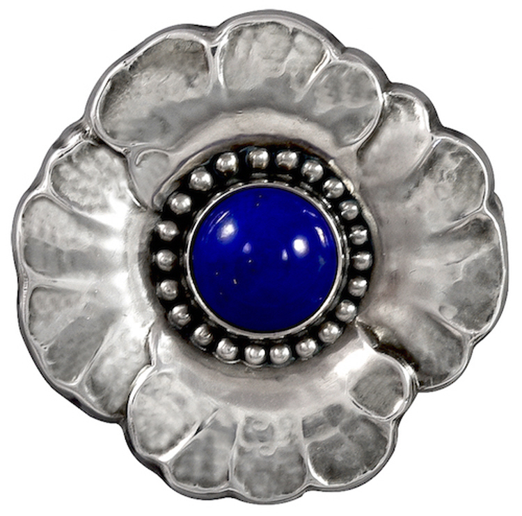 Georg Jensen Brooch No. 189 with Lapis