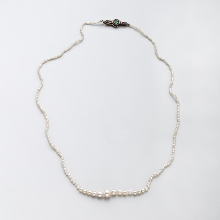 Victorian Oriental Pearl Necklace