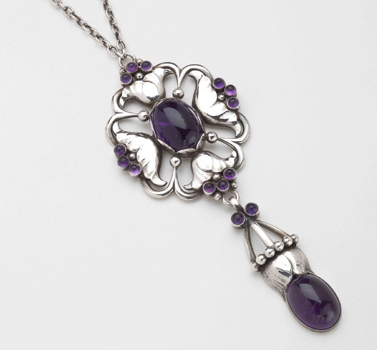 Georg Jensen Pendant Necklace No. 40 with Amethyst