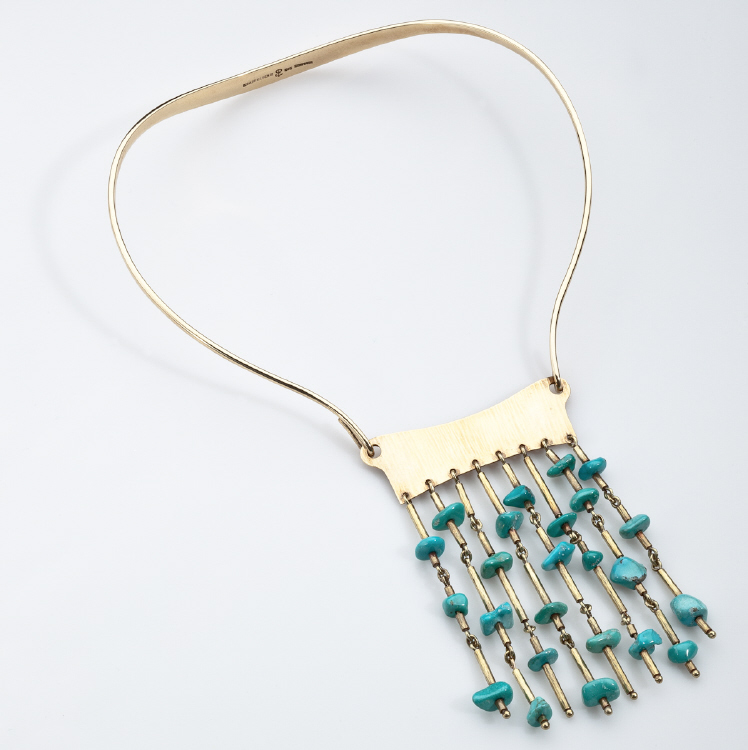 Bent Gabrielsen Necklace in Gold and Turquoise