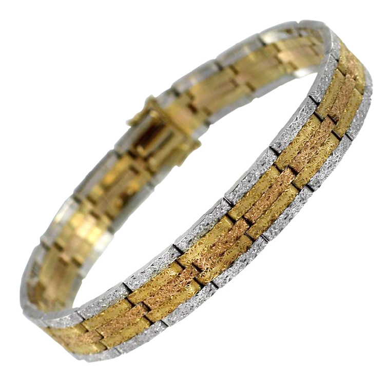 Buccellati Tri-Color Gold Bracelet