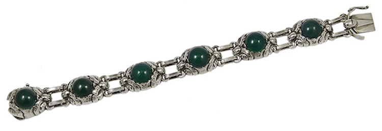Georg Jensen Bracelet No 57A with Green Agate