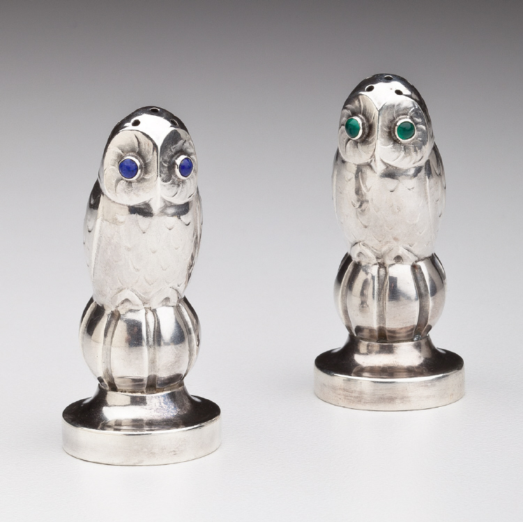 Georg Jensen 'Owl' Salt & Pepper Shakers No. 36A
