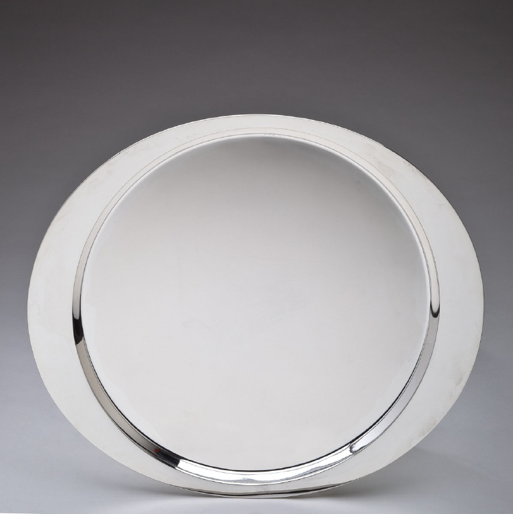 Georg Jensen Silver Tray No.1017A Designed by Henning Koppel