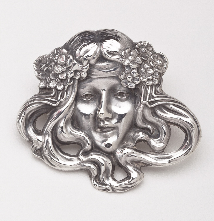 Unger Brothers American Art Nouveau Brooch